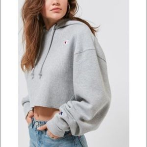 Champion cropped hoodie.